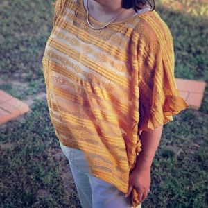 Mustard Lace Blouse plus size